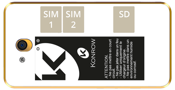 Smartphone START SIM-SD