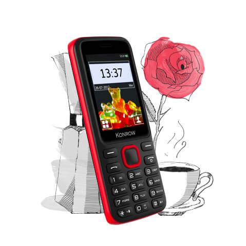 Mobile SWEET modèle noir et rouge