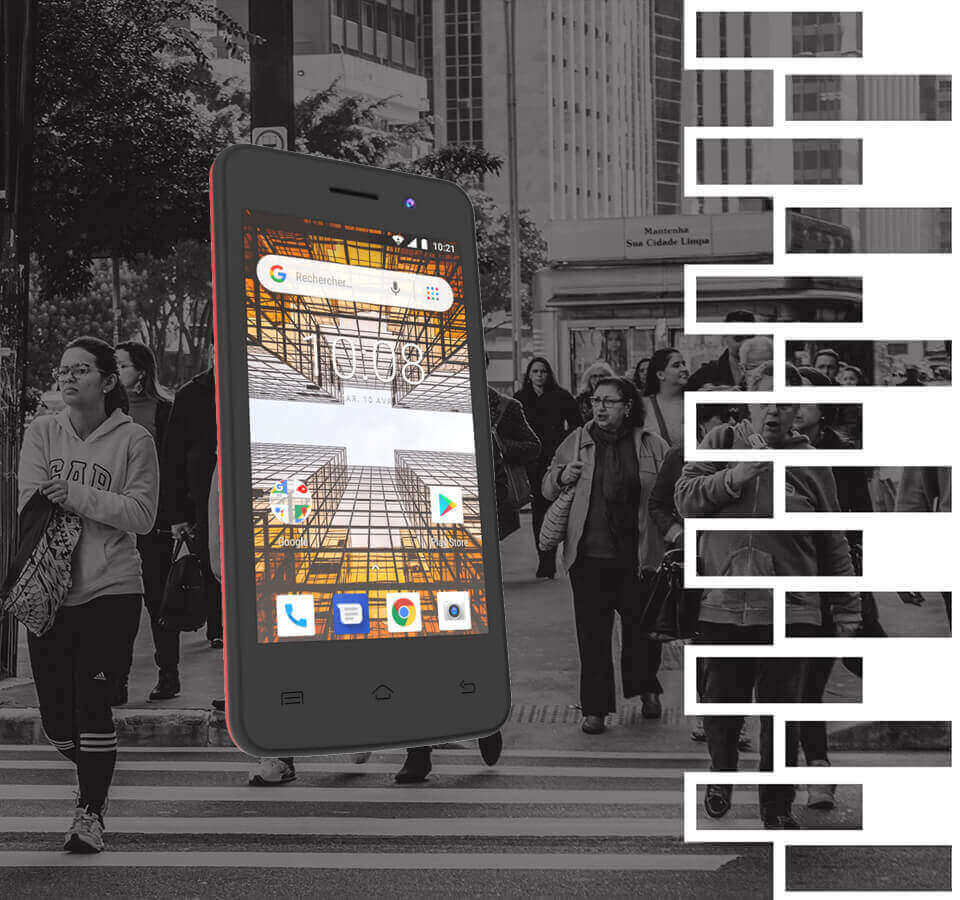 Smartphone konrow city avec visuels briques