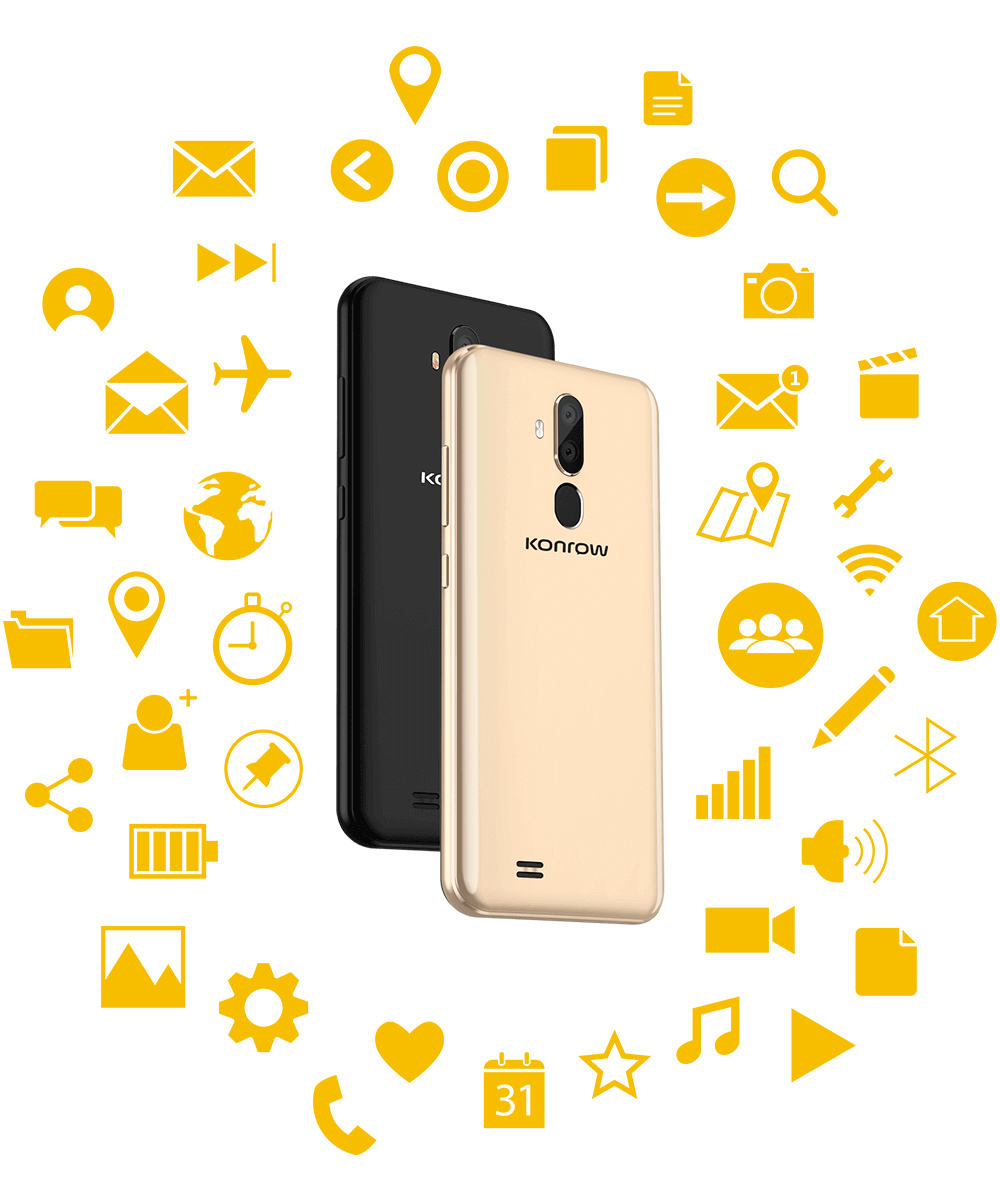 Smartphone Easy 62 noir et or efficace