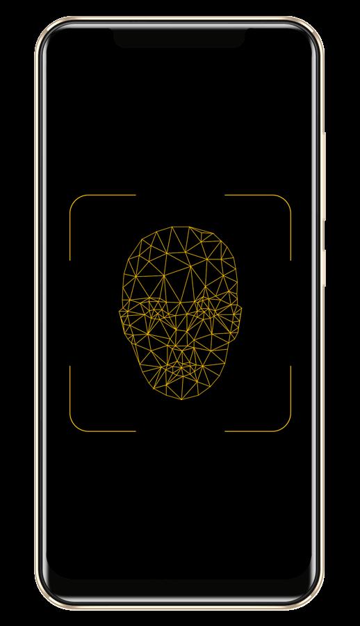 Smartphone easy62 or reconnaissance faciale