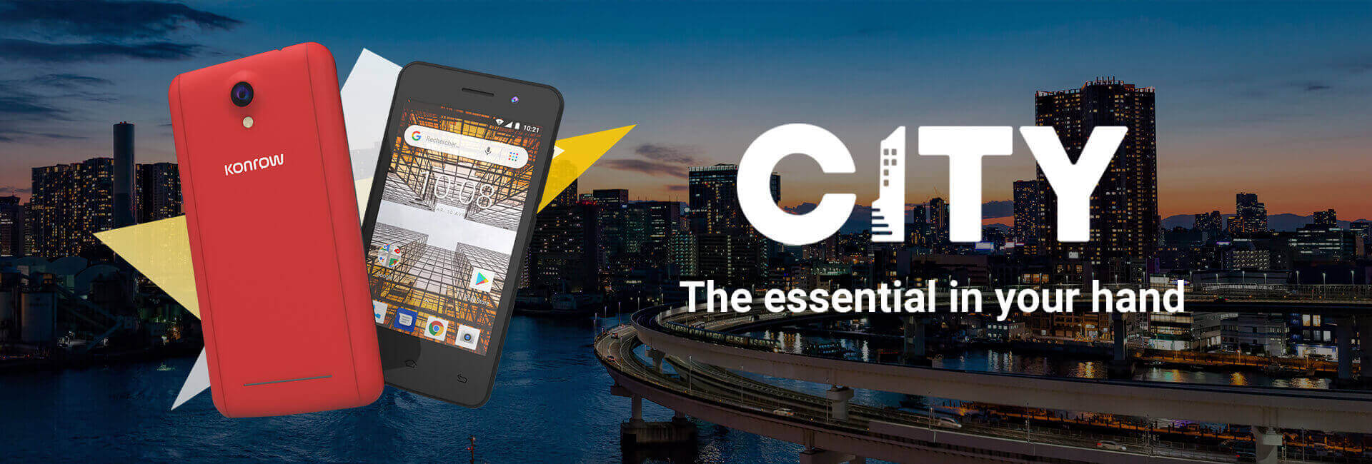 Banner smartphone city, the essential in your hand
