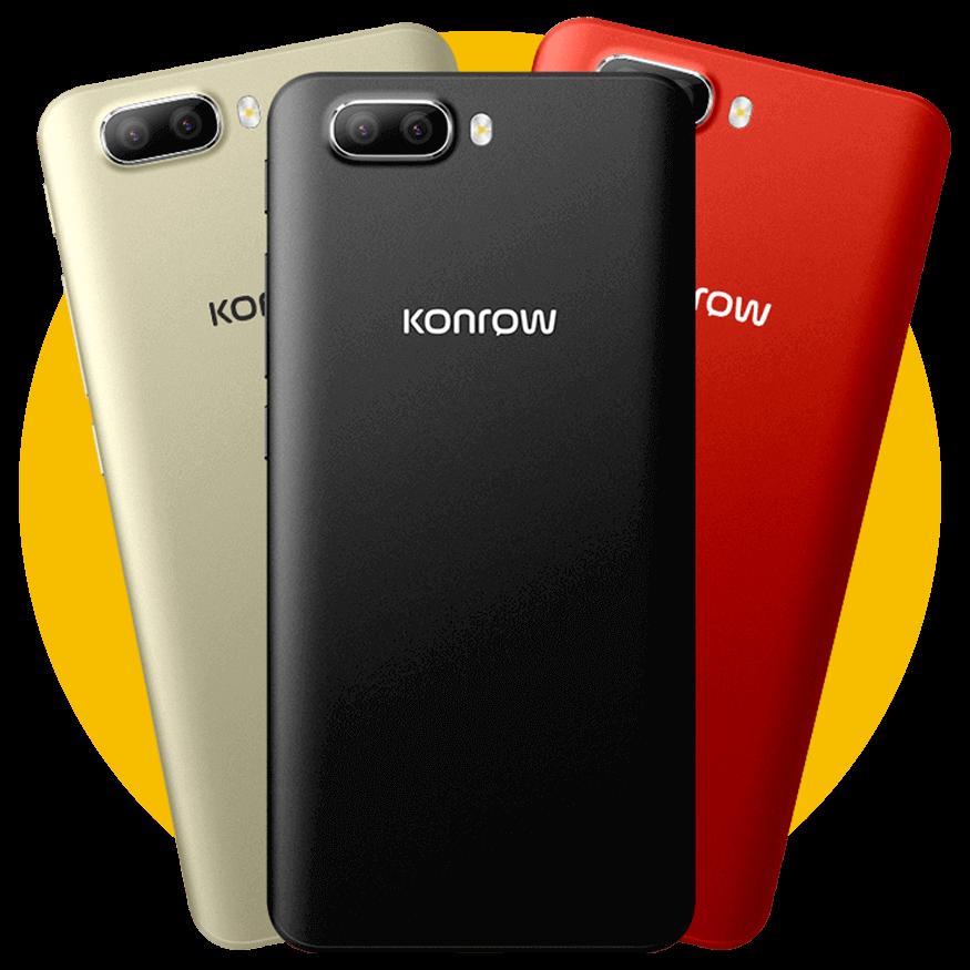 smartphones easy55 or, noir et rouge