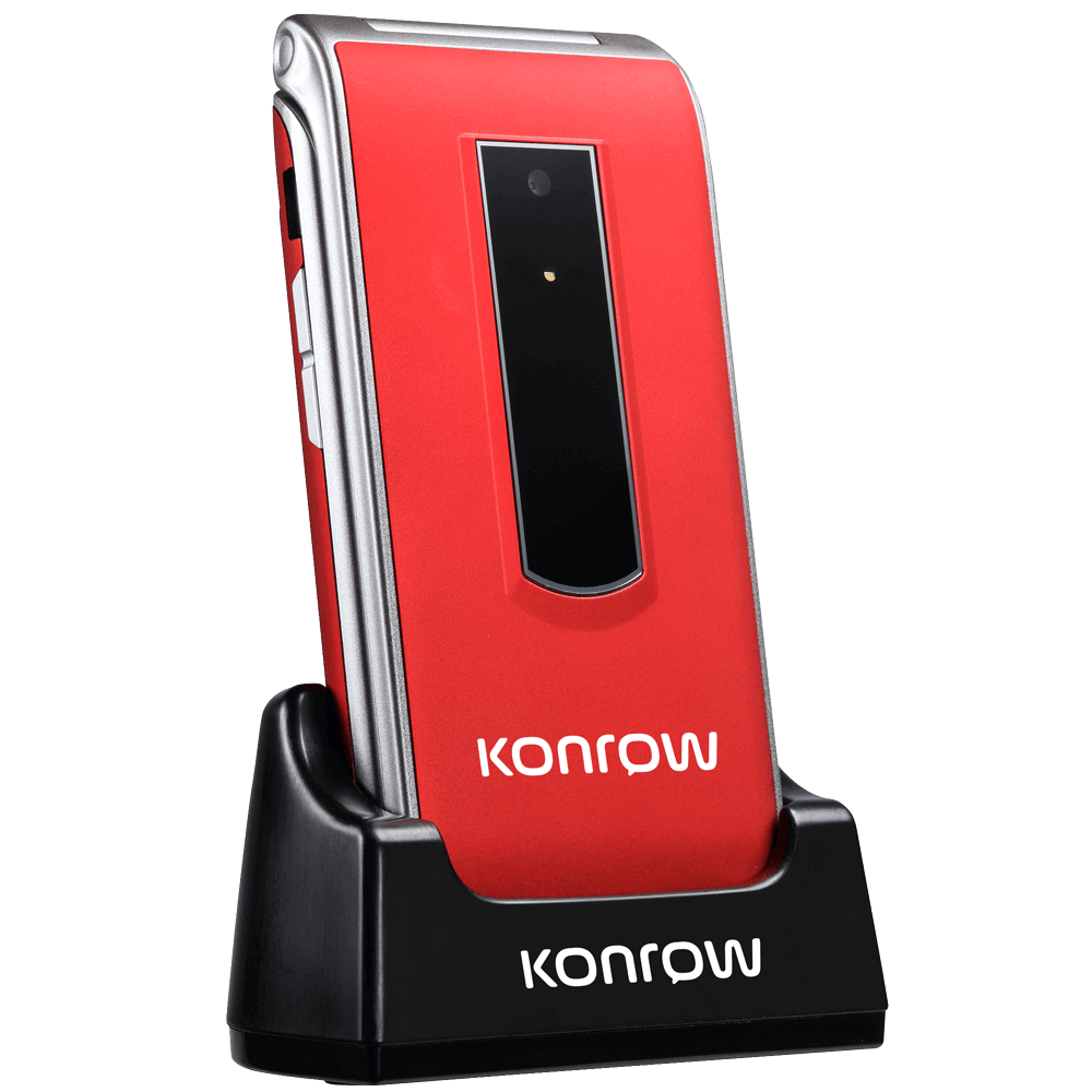 konrow senior c rouge socle de charge